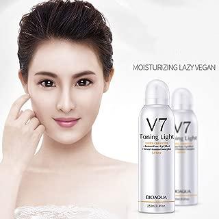 Whitening Face Spray, Luckyfine v7 Toning Light Skin Whitening Moisturizing Hyaluronate Vitamins Brighten Face Body Concealer, Making Your Skin Soft and Silky, Brighten Your Skin Tone - 250 ml