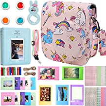 Case & Accessories Compatible with Fujifilm Instax Mini 9/8 / 8+ Instant Film Camera, Bundle Pack Include Album, Filters, Strap & Other Accessories [ Rainbow & Unicorn,9 Items Kit ] by SAIKA