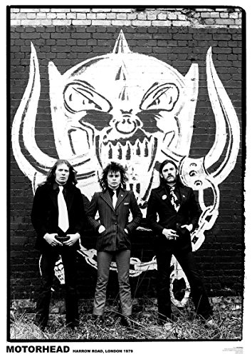 Close Up Motörhead Poster Harrow Road, London 1979 (59,5cm x 84cm) + 1 Traumstrand Poster Insel Bora Bora zusätzlich