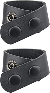 LuDa 1/2/4x Leather Duty Belt Keepers Webbing Strap Holder Loops with Double Snap Button for Tight Connection, 2''/2.25'' ...