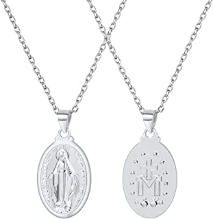 U7 Virgin Mary Necklace & Chain 22