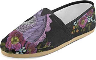 Artsadd Fashion Women's Loafers Flamingo Classic Casual Slip-on Canvas Shoes Sneakers Flats