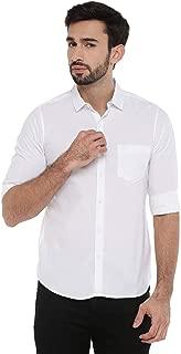 Chennis Mens Causal Shirt(White)