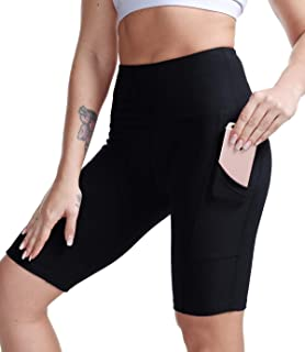 High Waist Yoga Shorts Women Gym Workout Running Short Leggings w Pockets