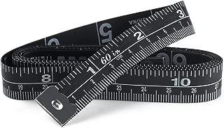 WIN TAPE Set of 3 Soft Tape Measure, Black Color Sewing Tape Measure, Measuring Tape for Body and Cloth (152cm / 60'')