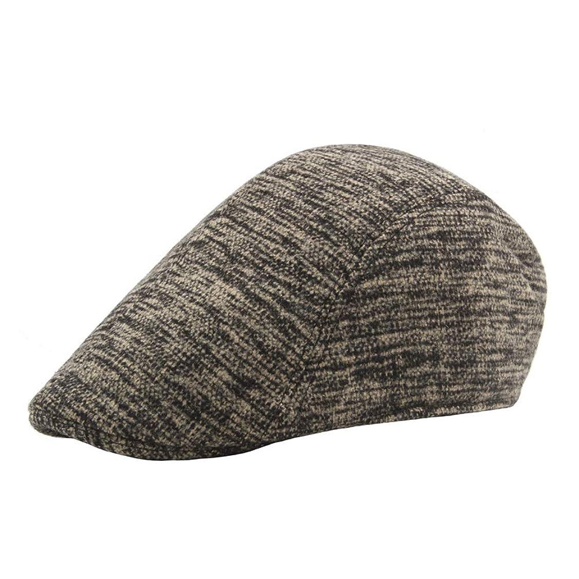 切り刻むプロポーショナル名前を作る2019ベレー帽コットンレディース落書きメンズアウトドアウールプラスコットンウォームアートフォワードベレー帽 レディースファッション帽子 (色 : ArmyGreen, サイズ : 56-58CM)
