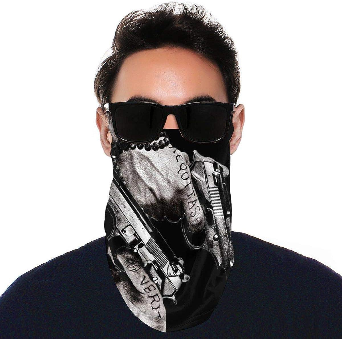 SIPONE Washable Men's & Women's Zuko Reusable Multiuse Bandanas Neck Gaiter Print Mask