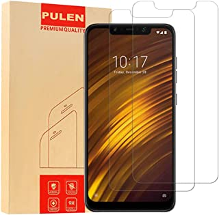 PULEN for XiaomiPocophoneF1 Screen Protector,0.3MM Slim [Ultra Clear] [Anti-Fingerprints] [Anti-Scratch] 9H Hardness Tempered Glass Film for XiaomiPocophoneF1 (2 Packs)