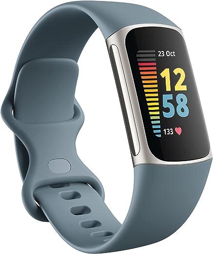 Fitbit Charge 5 activiteitstracker inclusief 6 maanden Premium-lidmaatschap, een batterijduur tot 7 dagen en dagelijkse hertelscore