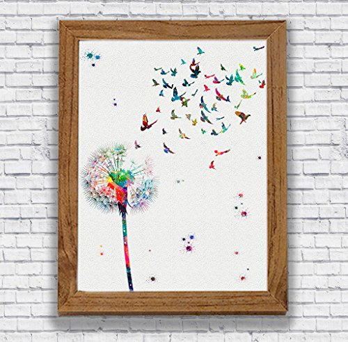 Dandelion Watercolor Posters Art Prints Flowers Wall Decor Artworks Wall Art Dining Room Art Wall Hanging Decor House Warming Gift