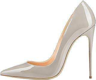 EDEFS - Escarpins Femme - Sexy Talon Aiguille - 120mm High Heel Chaussures - Grande Taille