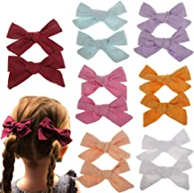 Baby Girl Hair Bow Set Spring Floral Print Bows Headbands Clip Alligator Hair Clips for Toddlers Kids