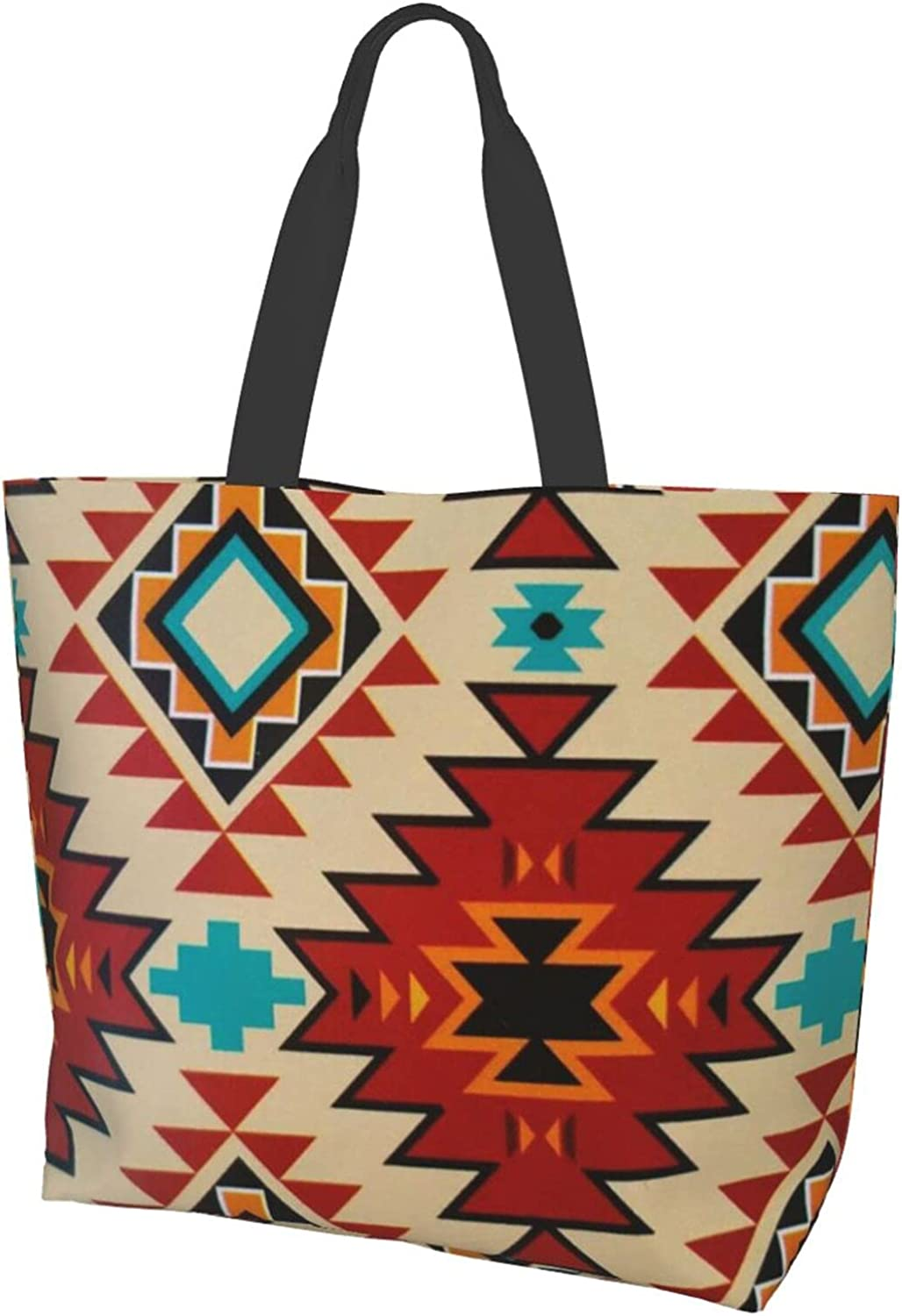 Tote Bag Super sale period limited Fitness Beach Travel Popular Bag-Geometric Triba Daily Shoulder
