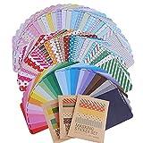 (10 * 6.5cm) 81 fogli Adesivi Etichette Adesive Masking Tape Sticker Decorazioni Scrapbooking Diario...