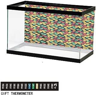 Khaki home Fish Tank Backdrop Poker Tournament,Playing Cards,Aquarium Background, Thermometer Sticker