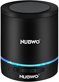 NUBWO A3+ 小型 円筒形 Bluetooth スピーカー コンパクト ブルートゥース ワイヤレス スピーカー Compact Mini Speaker 3Wドライバー【最大8時間連続再生/Bluetooth 4.2/ポータブル/大音量/マイク内蔵/SDカード使用可能】A3+ブラック
