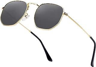 Hipster Hexagonal Polarized Sunglasses Men Women...