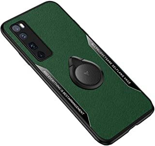 Hangrun Case for Huawei Nova 7/7Pro 5G- Slim Anti-fall Phone Case with Ring Buckle Bracket Soft Leather Cover for Huawei N...