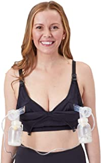 Simple Wishes Foundation Nursing and Hands Free Pumping Bra, USA Company, Comfortable, Multi-Function, All Day Wear