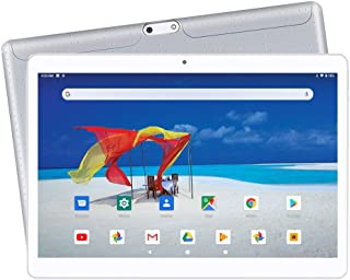【2019 Upgraded 】 Yuntab K107 10.1 Inch Quad Core CPU MT6580 Cortex A7 Android 5.1,Unlocked Smartphone Phablet Tablet PC,1G+16G,HD 800x1280,Dual Camera,IPS,WiFi,GPS,Support 3G Dual SIM Card(Silver)