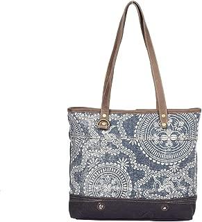 Myra Bag Sapphire Upcycled Canvas Tote Bag S-1323