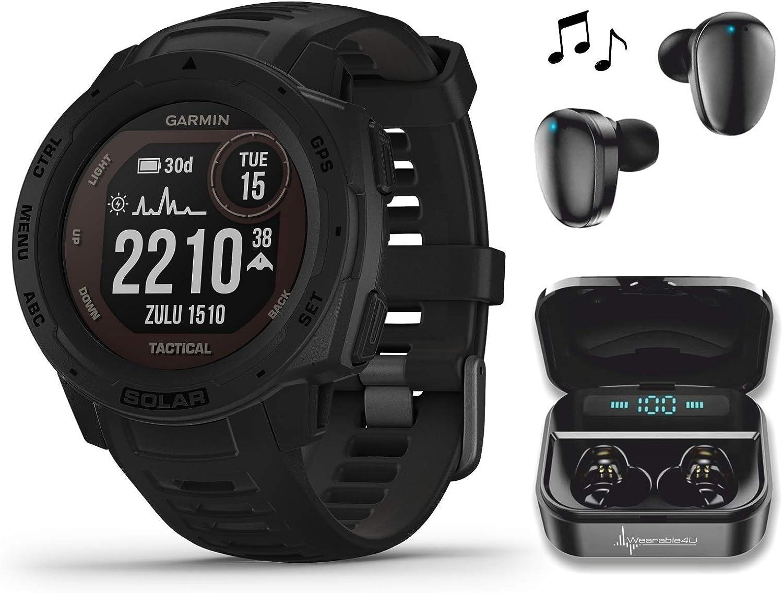 Garmin Instinct Solar Tactical Omaha Mall Edition Premium GPS Max 54% OFF Smartwatch wi
