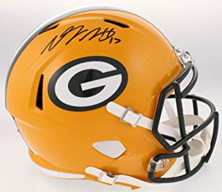 Davante Adams Green Bay Packers Signed Autograph Speed Full Size Helmet JSA Witnessed Certified