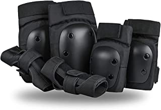 SzBlaze Knee Pads Elbows Pads Wrist Guards 3 in 1 Safety Protective Gear Set for Skateboarding Inline Roller Skating BMX B...