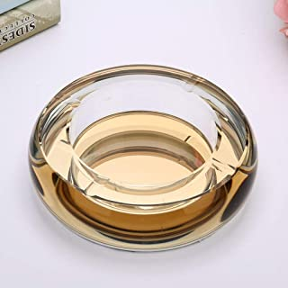 Ashtray, Ashtray Creative Office Living Room Personality Trend Ashtray European Crystal Glass Transparent Fashion Ashtray Large (Color : A),Size:A,Colour:A (Color : E, Size : E)