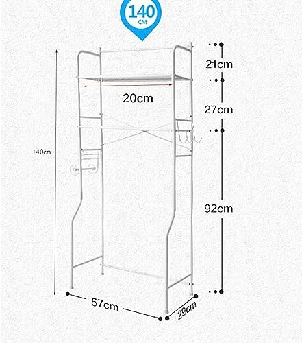 precios al por mayor WZC Estante Estante Estante de Almacenamiento de baño Multifuncional con Soporte de Papel, Adecuado para sobre estantes de Lavadora de Inodoro Null  80% de descuento