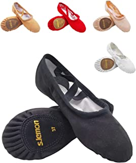 s.lemon Canvas Classic Ballet Dance Yoga Shoes Slippers Flats Pumps for Toddlers Girls Women Men