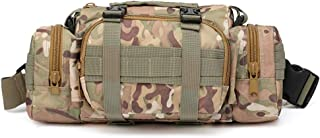 Atrumly - Mochila de caza para exteriores, bolsa táctica, multifunción, juego estratégico de camuflaje, cinturón para acampada, escalada