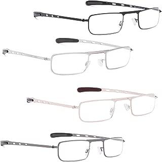 READING GLASSES 4 Pack Small Lens Readers for Men and Women