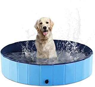 AHK Foldable Dog Pet Pool Portable Kiddie Pool for Kids, PVC Bathing Tub, Outdoor Swimming Pool for Large Small Dogs