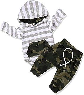 Baby Boy Clothes Stripe Letter Print Hoodies+Long...