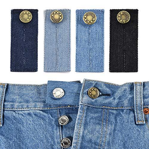CHIC DIARY Hosen Knopf Verlängerung Wunderknöpfe Extender Jeans Hosenerweiterung Bunderweiterung für frühe Schwangerschaft