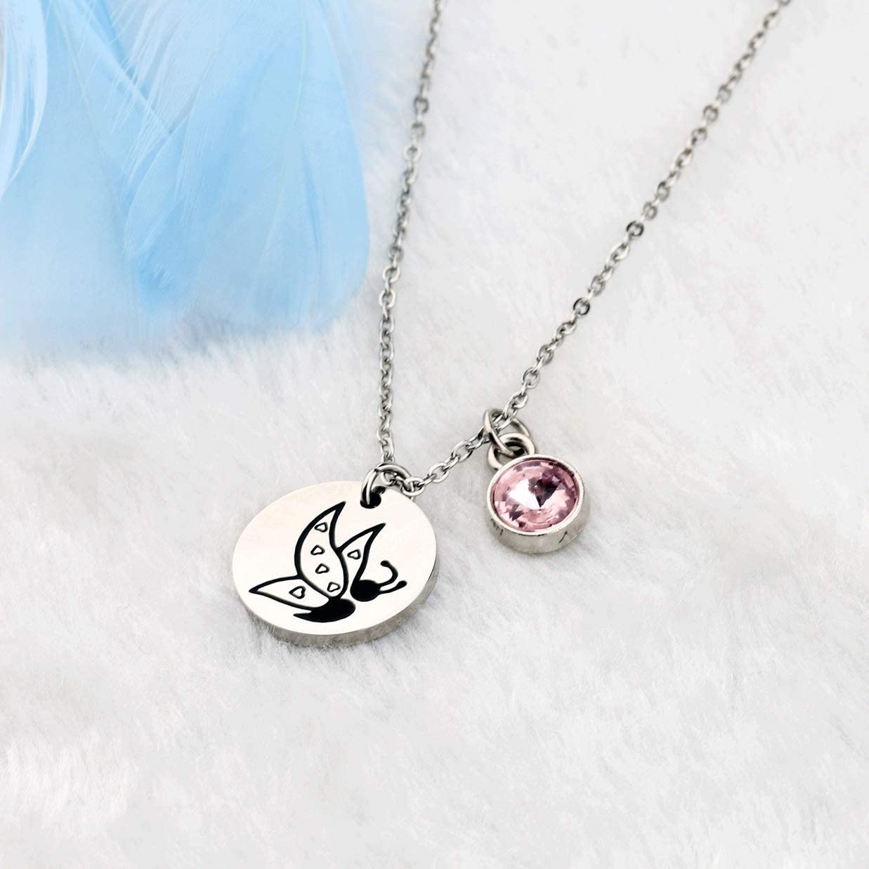 WSNANG Suicide Awareness Semicolon Necklace Suicide Prevention Awareness Gift Mental Health Awareness Inspirational Gift
