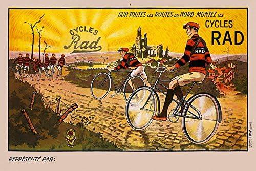 ESSO car truck bike RURAL LANDSCAPE vintage ad poster CLASSIC DESIGN 24X36