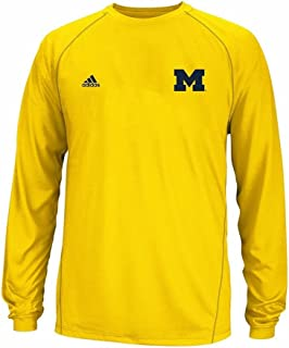 adidas Michigan Wolverines Climalite Long Sleeve T-Shirt - Yellow