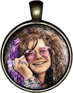Janis Joplin Necklace Pearl Handmade Jewelry Pendant Gift Me and Bobby McGee