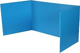 Blue Premium Corrugated Plastic Study Carrel Bulk Pack of 12