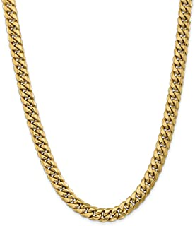 Mia Diamonds 10k White Gold .9mm Polished Cable Chain Necklace