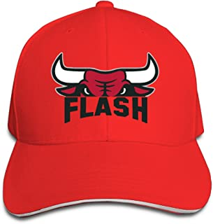 Faker Bulls Basketball Flash Bulls Logo Men Women Sandwich Cap Red (8 Colors)