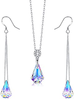 Sterling Silver Drop Dangle Earrings With Color Change...