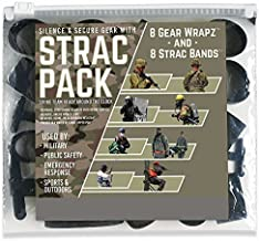 Alliance STRAC (Strike Team Ready Around The Clock) Combo Pack, 16 Bands Total Including 8 STRAC Black EPDM Rubberbands and 8 Black EPDM Gear Wrapz in Zip Close Poly Pouch. (7812)