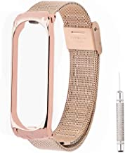 OLLIVAN for Xiaomi Mi Band 4 Strap, Mi Band 4 Mi Band 3 Wristbands Metal Replacement Bracelet Accessories Adjustable Wrist...
