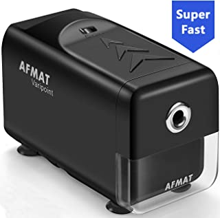 Electric Pencil Sharpener Heavy Duty, AFMAT Pencil Sharpener for Classroom, Auto Stop, Super Sharp & Fast, Commercial Pencil Sharpener for 6-8mm No.2/Colored Pencils/Office/Home, Upgraded Packaging