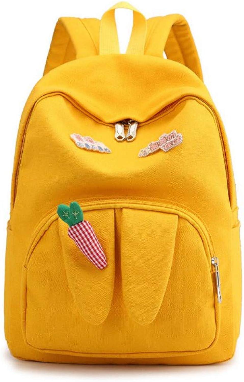4d999f77be7e HUYANNABAO Backpack Women Cute Junior School Bag Korean Girls Yellow ...