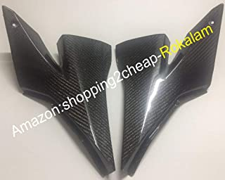 2 x Carbon Fiber Tank Side Covers Panels Fairing For Kawasaki ZX-10R 2004 2005 ZX10R 04 05 10R Tank Side Cover Panel