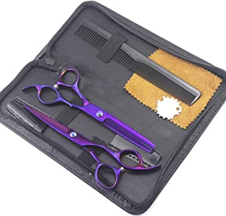 Hair Cutting Straight Scissors Stainless Steel Professional Barber Salon Tool,C,6 inch Set